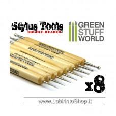 Green Stuff World 8x Sculpting STYLUS tool set