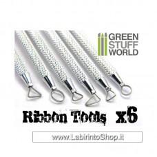 Green Stuff World 6x Mini Ribbon Sculpting Tool Set