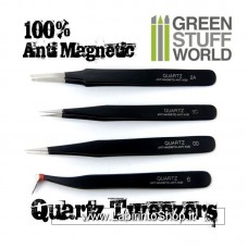 Green Stuff World 100% Anti-magnetic QUARTZ Tweezers SET