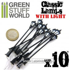Green Stuff World 10x Classic Lamps with LED Lights