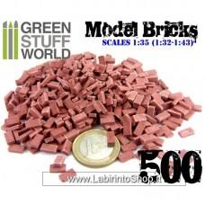Green Stuff World Model Bricks - Red x500