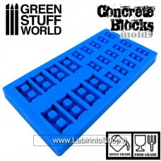 Green Stuff World Silicone molds - Concrete Bricks