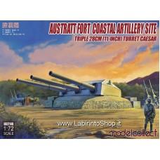 Model Collect German Austrattfort Costal Artillery Site Triple 28 cm Turret (1/72)