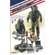 Meng HS-003 U.s. Explosive Ordinance Disposal Specialists Robots 1/35