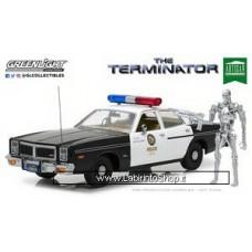 Greenlight 1:18 1977 Dodge Monaco Metropolitan Police with T-800 Terminator -