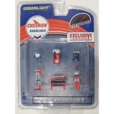 Greenlight - Gl Muscle - Chevron Gasolines - Shop Tools - Pack Exclusive Multipack 1/64