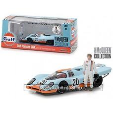 Greenlight - 1/43 - Gulf Porsche 917K with Steve McQueen Figure