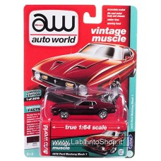 Auto World 1:64 - Vintage Muscle - 1972 Ford Mustang Mach 1 Dark Red