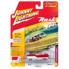 Johnny Lighting - Classic Gold - 1958 Nash Metropolitan - Mardi Gras Red/White