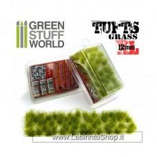 Green Stuff World Grass TUFTS - 12mm self-adhesive - Realistic Green