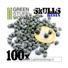 Green Stuff World 100x Resin Skulls