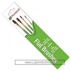 Humbrol Flat Brushes Kit