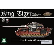 Takom Model: 1/35 King Tiger, Porsche Turret with Zimmerit and Interior 2046S