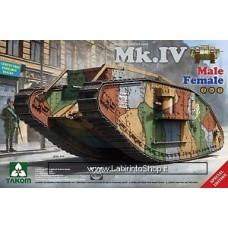Takom Model: 1/35 WWI 2076 WWI Heavy Battle Tank Mark IV