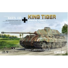 MENG Sd.Kfz.182 King Tiger Porsche Turret with Metal Barrel 1/35