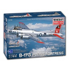Minicraft B-17g Flying Fortress Airplane Model Kit (1/144 Scale)