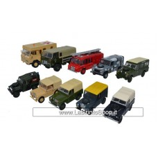Oxford Land Rover Military Set 10 Pieces 1/87