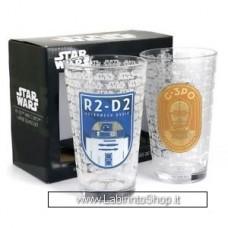 Star Wars Glasses set of 2 Large R2D2 C3PO