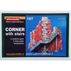 Plus Model 197 - Corner with Stairs 1/35