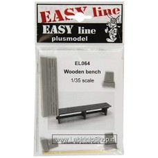 Plus Model EL064 - Wooden Bench 1/35