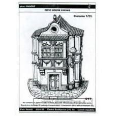 Plus Model 017 - Civic House Facing 1/35