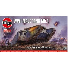 Airfix - 1/76 - Vintage Classics - WWI Male Tank Mk.I