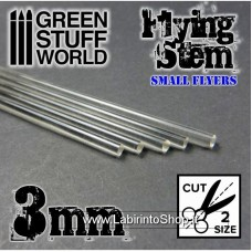 Green Stuff World Acrylic Rods - Round 3 mm CLEAR