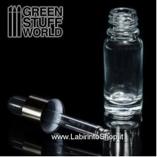 Green Stuff World Empty Glass Jar with Pipette