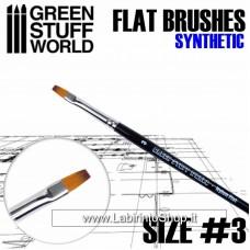 Green Stuff World Flat Synthetic Brush Size 3