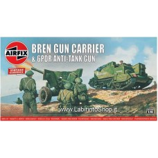 Airfix - 1/76 - Vintage Classics - Bren Gun Carrier and 6pdr Anti-tank Gun