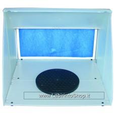 Werther  International Minispraybooth - Cabina di Verniciatura con Filtro e Ventola