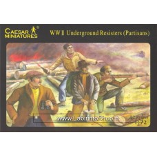 Caesar Miniatures  WWII Underground Resisters (Partisans)
