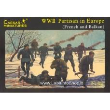 Caesar Miniatures  WWII Set H056 Partisans in Europe