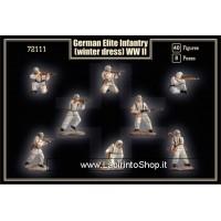 Mars 72112 - 111 - WWII German Elite Infantry in Winter Uniforms - 40 figures 1/72