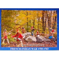 Bum 2009 HURONS Indians woodland - The French and Indian War (1755-1763) 36 figures 1/72