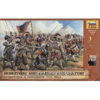 Zvezda - 8061 17th Century Austrian Musketeers and Pikemen