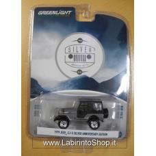 Greenlight - 1/64 - Silver Anniversary Edition Jeep - 1979 Jeep Cj-5 Silver Anniversary Edition