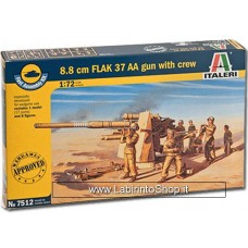 Italeri - 7512 - 8.8 cm Flak 37 AA Gun With Crew 1:72