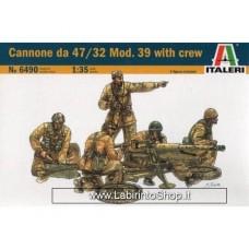 Italeri - 6490 - Italian Cannone 47/32 Mod. 39 with Crew 1:35