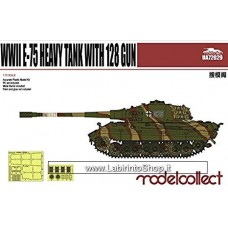 Modelcollect Germany 72029 Germany WWII E- 75 Heavy Tank with 128 Gun Model Kit
