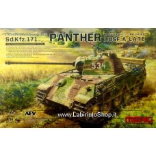 Meng TS-035 WWII German Medium Tank Sd. Kfz. 171 Panther Ausf. A Late 1/35 Scale
