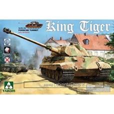 Takom Model: 1/35 WWII 2074 Heavy Tank King Tiger Porsche Turret Full Interior