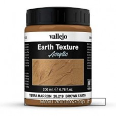 Vallejo Acrylic Paints 200ml Bottle 26.219 Brown Earth 200 ml