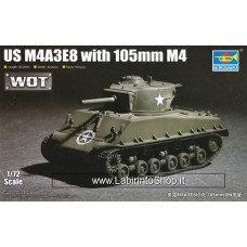 Trumpeter 1/72 US M4A3E8 Sherman with 105mm M4