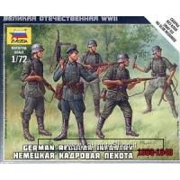 Zvezda German Regular Infantry 1939-1943 - 1/72 Nap Fit