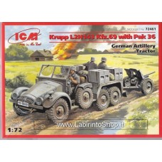 ICM Krupp L2H143 Kfz. 69 with Pak 36 German Artillery Tractor 1/72