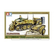 Tamiya 32502 Kettenkraftrad with Infantry Cart Goliath Demolition Vehicle 1/48