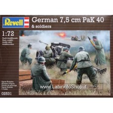 Revell 02531 German Pak 40 with soldiers 1/72