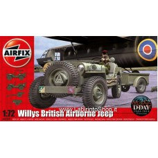 Airfix 1:72 British Airborne Willys Jeep