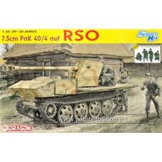 Dragon 6640 7.5cm Pak 40/4 auf RSO with 4 Gun Crew